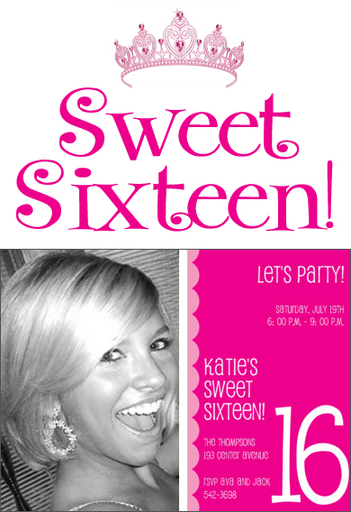 Sweet 16 Party Invitations Studio Notes
