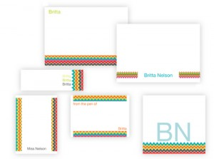 Sprightly Chevron Post-it® Notes Ensemble