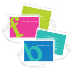 Letter Perfect Luggage Tags in Your Color Choice