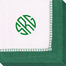 Design Your Own Paper Caspari Emerald Linen Like Napkins