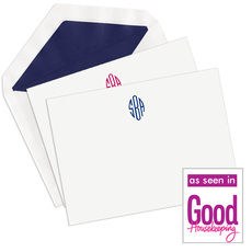 Simply Monogram Flat Note Cards
