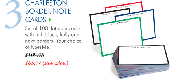 The Charleston Border Note Cards Collection