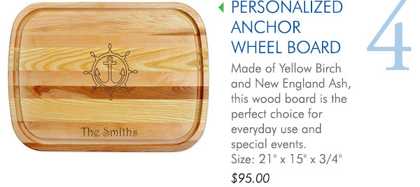Personalized Anchor Wheel Board