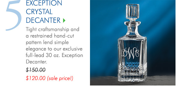 Monogrammed Exception Crystal Decanter