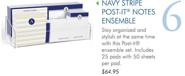 Navy Stripe Post-it Notes Ensemble