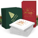 Holiday Napkins at The Stationery Studio