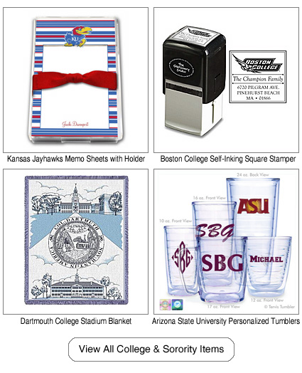 Personalized College Items