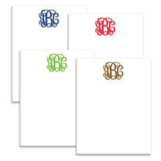 Multi Scripty Monogram Notepad Collection