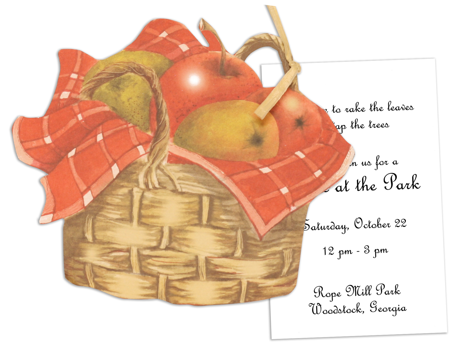 Basket of Apples Die-cut Invitations
