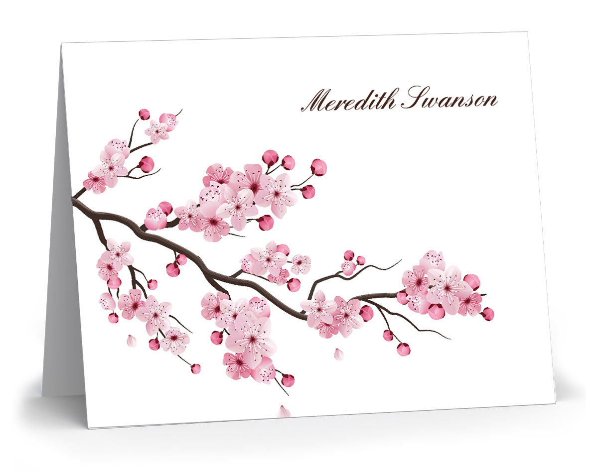 Personalized Floral Stationery
