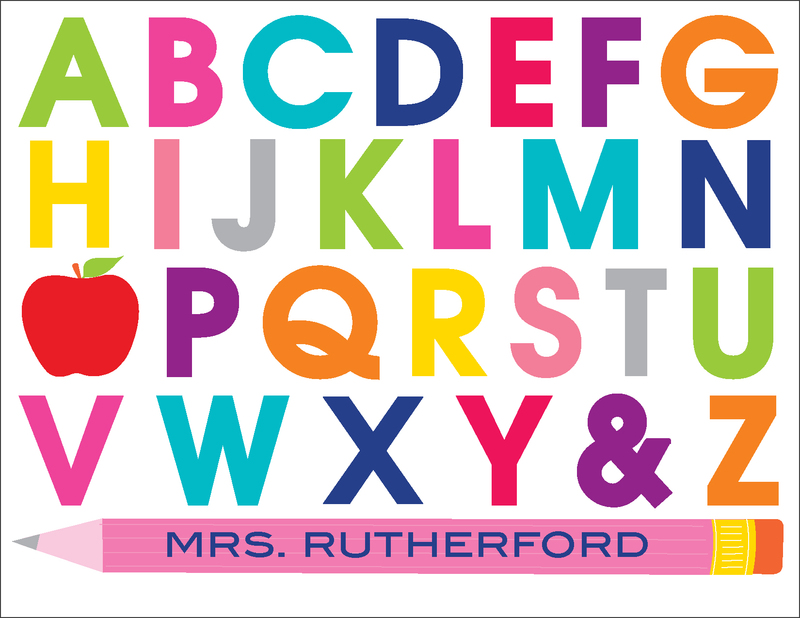 Alphabet Teacher Folded Note Cards