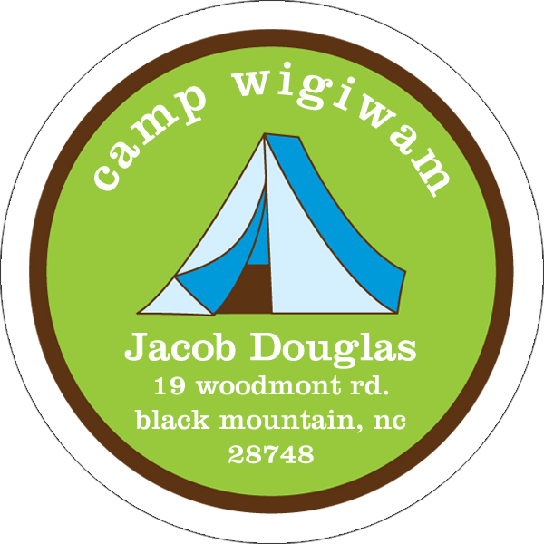 Personalized Camp Address Labels
