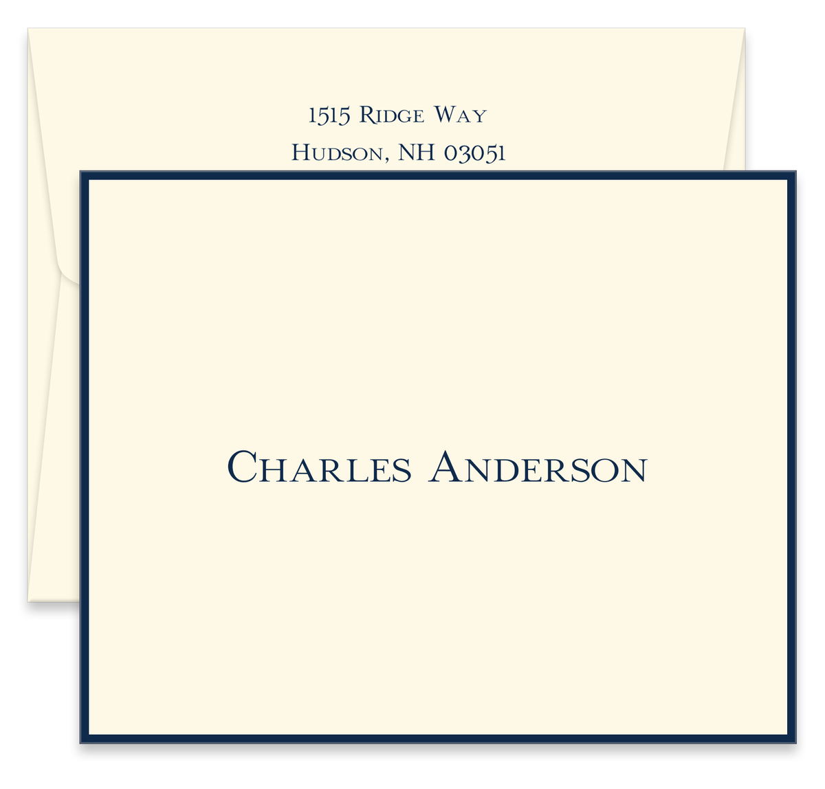 Bordered Folded Note Cards