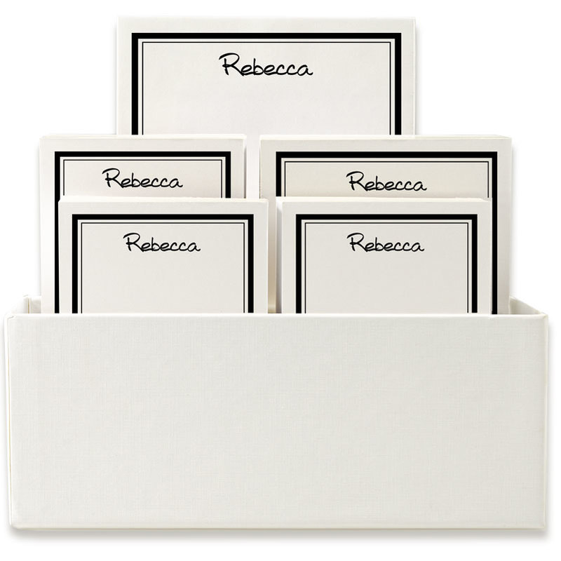 Santa Monica Notepad Collection in White Holder