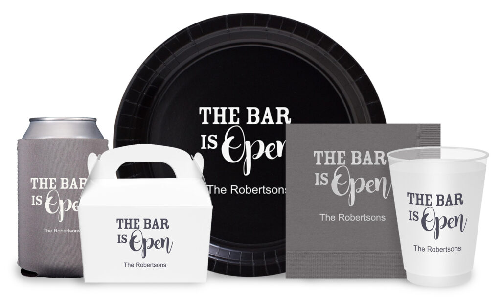The Bar is Open Party Supply Collection