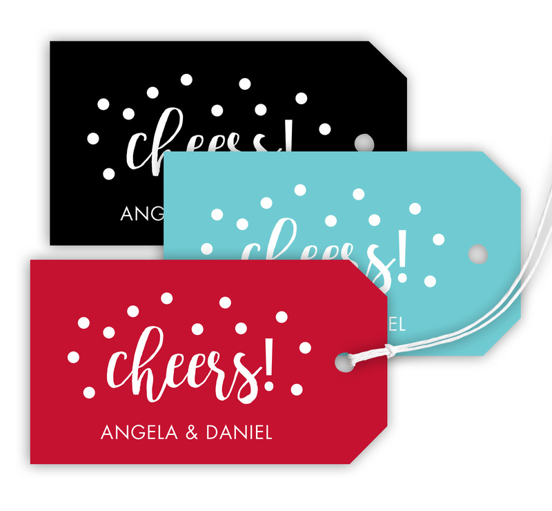Cheers Hanging Gift Tags