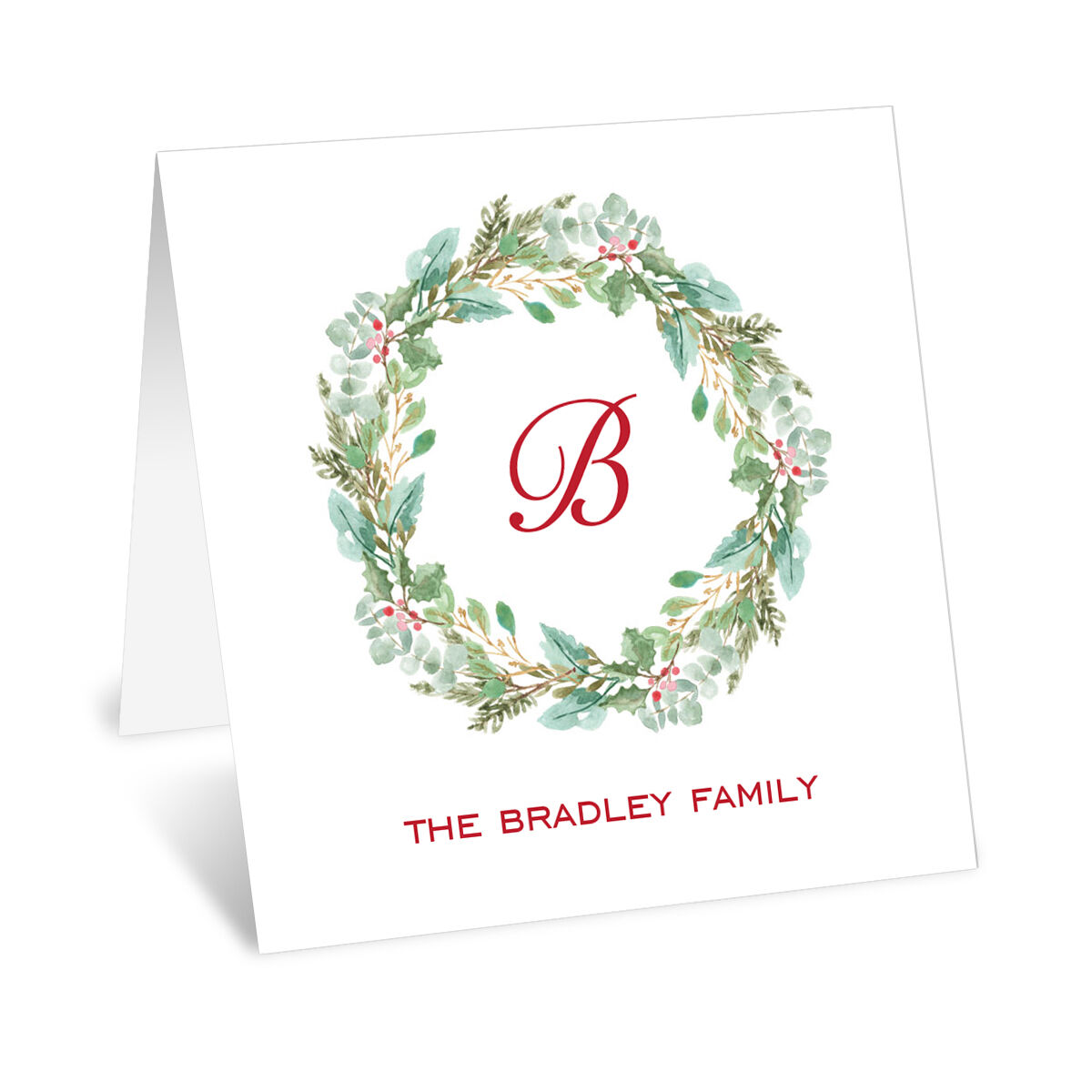 Welcoming Wreath Folded Enclosure Cards