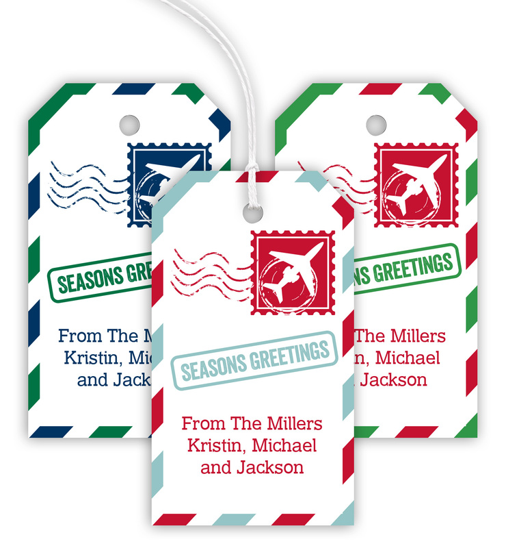 Stamp Holiday Hanging Gift Tags