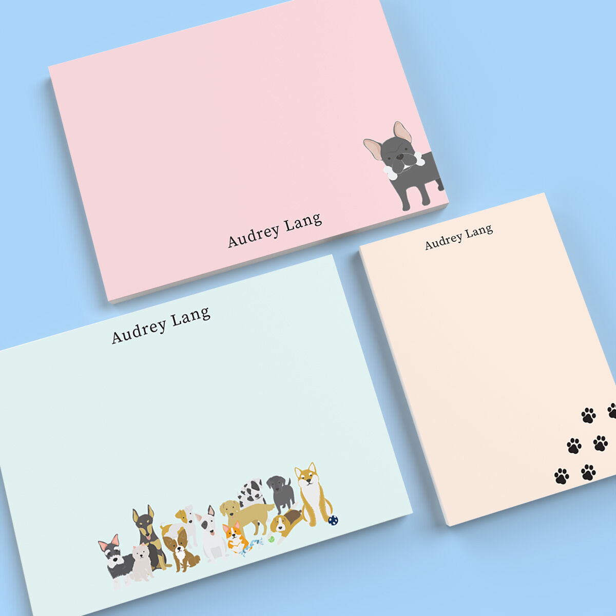 Darling Dogs Flat Note Card Collection